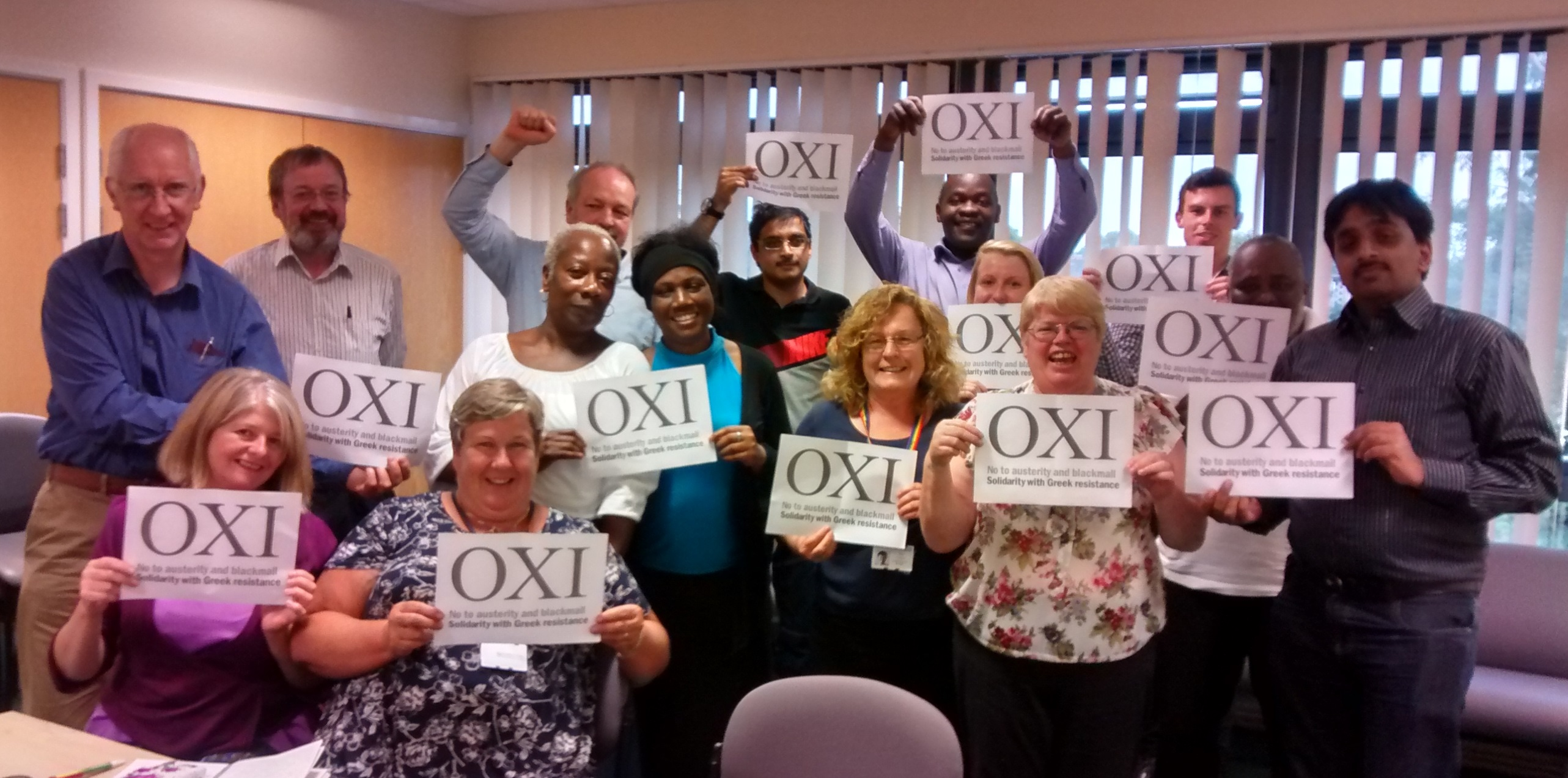 Solidarity from Oxfordshire Unison Health Branch Executive committee